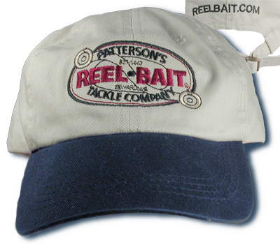 -552 - Putty & Navy - ReelBait Logo Embroidered, Low Profile, curved bill