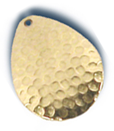 -28 - Colorado Premium Blade #4 Hammered Brass w/ Lacquer - 10 Pack