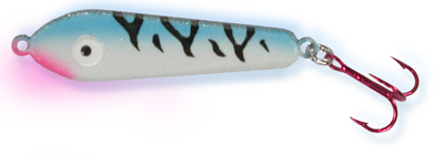 55456 - Blue Tiger - Glows Blue - 1/2 oz Plane Jane Jigging Spoon