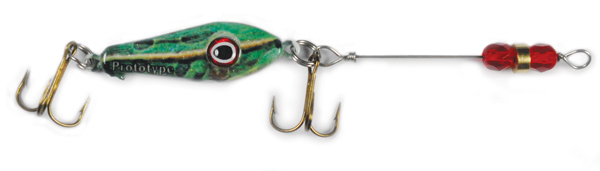 55555 - Frog w/Red Beads - 3/4 oz Prototype Fergie Spoon