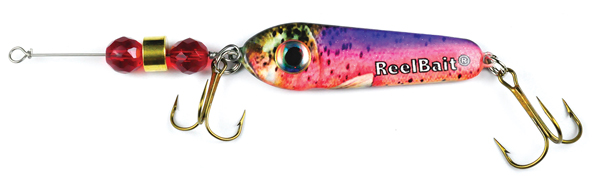 55815 - Rainbow Trout w/Red Beads - 1 1/2 oz Prototype Fergie Spoon