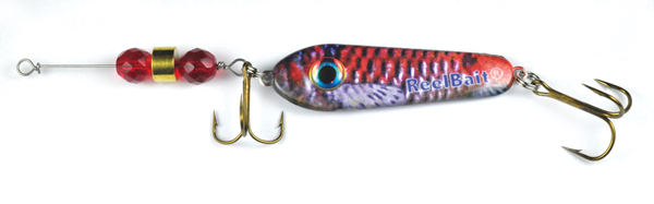 55563 - R & B Minnow w/Red Beads - 1 oz Prototype Fergie Spoon