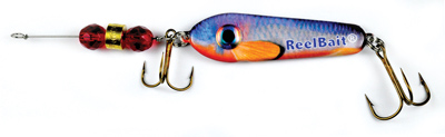 55801 - RedFin Shiner w/Red Beads - 1 1/2 oz Prototype Fergie Spoon