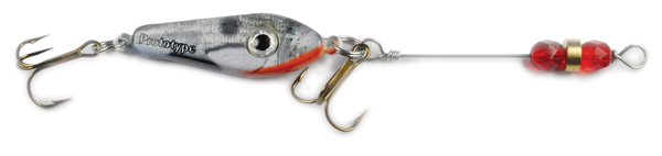 55548 - Silver Minnow w/Red Beads - 3/4 oz Prototype Fergie Spoon