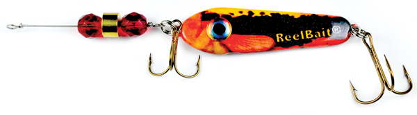 55806 - Sunset Minnow w/Red Beads - 1 1/2 oz Prototype Fergie Spoon
