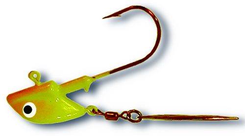 -93 - Chartreuse & Orange 3/8 oz LS Red Tail Flasher Twin Pack