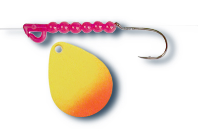 -109 - Fluorescent Chartreuse and Orange Tip w/Red Beads