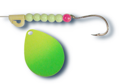 -111 - Fluorescent Chartreuse and Green Tip w/Chartreuse Beads