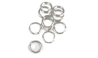 -578 - #4  Split Rings Nickel - 10 pack
