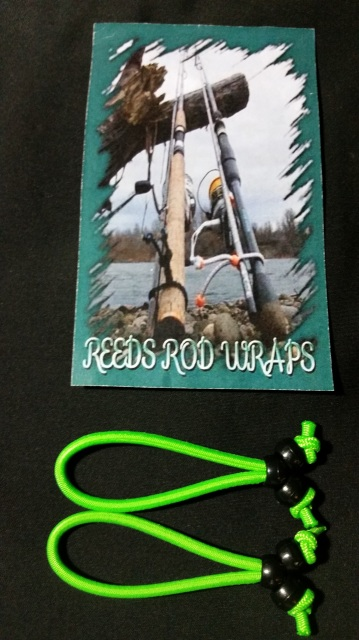 642014-25249 - Large Neon Green Reeds Rod Wraps