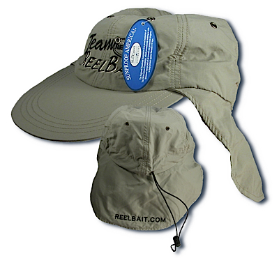 54811 - Khaki Sun Hat w/long bill and ear protection