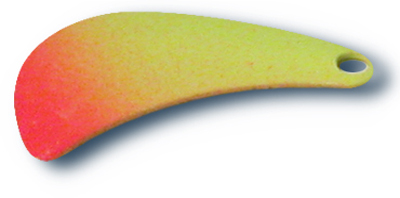-42 - Tomahawk Blade #4 Fluorescent Chartreuse w/ Orange Tip - 10 Pack