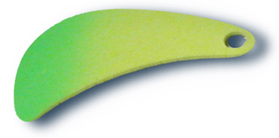 -43 - Tomahawk Blade #4 Fluorescent Chartreuse w/ Green Tip - 10 Pack