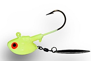 54144 - Chartreuse 3/4 oz LS Super Glow Flasher Twin Pack