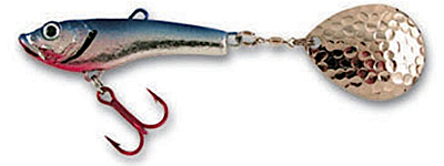 55278 - Chrome/Blue 3/4 oz Lytle's Secret Tail Spinner