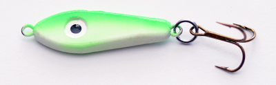 57791 - NEW Green Back SUPER GLOW  Green- 1/2 oz Plane Jane Jigging Spoon