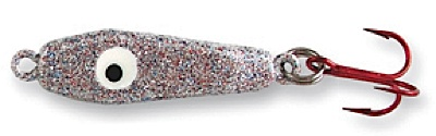 55442 - Silver Glitter 1 oz Plane Jane Jigging Spoon