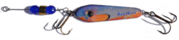 55547 - RedFin Shiner w/Blue Beads - 3/4 oz Prototype Fergie Spoon