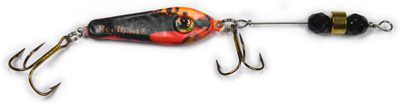 55552 - Sunset Minnow w/Black Beads - 3/4 oz Prototype Fergie Spoon