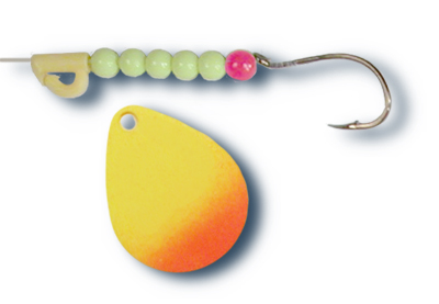 -110 - Fluorescent Chartreuse and Orange Tip w/Chartreuse Beads