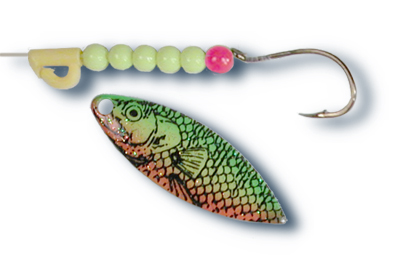 54644 - 3 1/2 Willow Firetiger w/Chartreuse Beads