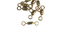 -575 - #10  Brass Crane Swivel - 10 pack