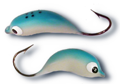 54753 - Glow-in-the-Dark/Blue #2 Hook Soft Body Floating Jig- 5 pack