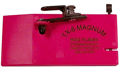 783525-30502 - Church Tackle Co. TX-6 Magnum Mini Planer. STARBOARD (Right)