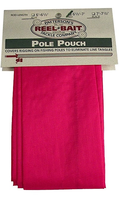 -550 - RED Pole Pouch - fits 6 1/2 - 7' rods